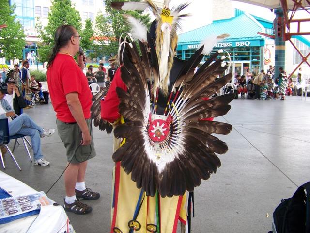 Aboriginal dancer at the Forks Market